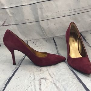 Nine West maroon suede pumps (SH